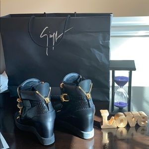 4feaee4280ca3 Giuseppe Zanotti Shoes - Giuseppe Zanotti Lamay Lorenz Black Sneakers